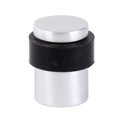 Hafele Flat Top Round Door Stop Metal/Rubber Satin 35mm