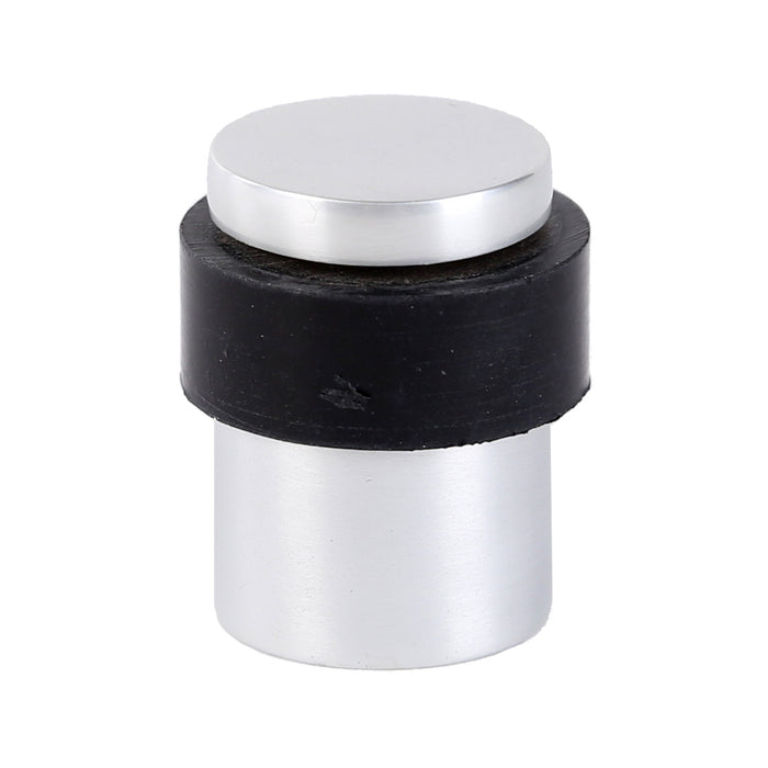 DIY & Tools -  Flat Top Round Door Stop Metal/Rubber 35mm