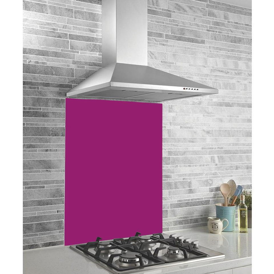 Hafele Kitchen Splashback Panel - Glass - Fuchsia Pink - 895x745x6mm