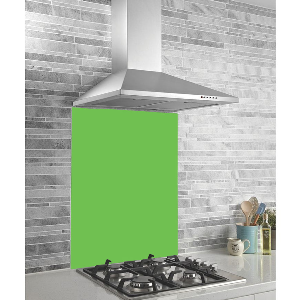 Home Kitchen Midway Panel Splashback - Green - Glass - 995x440x6mm