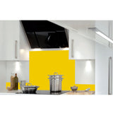 2x Hafele Kitchen Upstand Panel - Glass Yellow 995x140x6mm