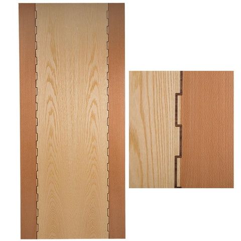 Solid Hardwood Interior Door Beech, Ash & Walnut Wood Finish 35x1981x838mm