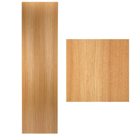 Wooden Interior Door - Darker Wood Finish - 44 x 2040 x 526mm