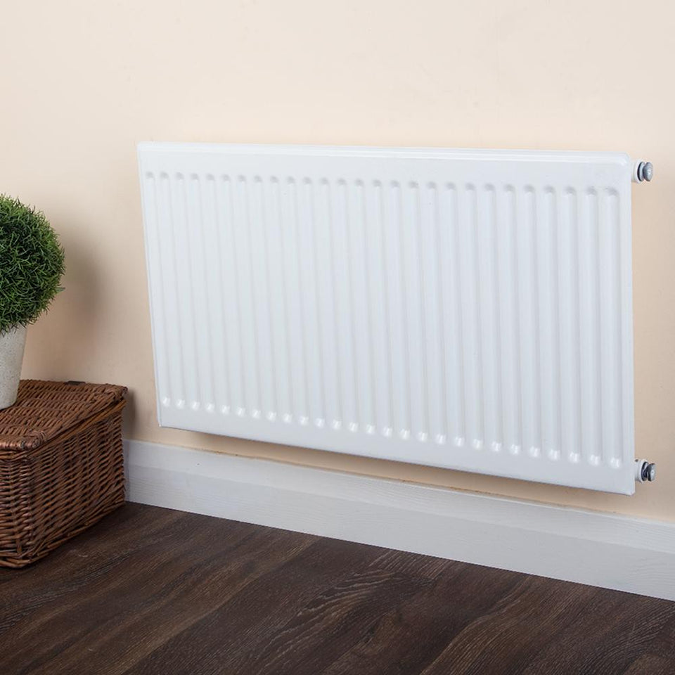 Round Top Radiator - Single Panel Type 10 - White - (H)500 x (W)2200mm
