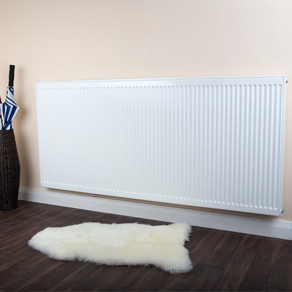Double Panel Radiator – Type 21 – Inter V – White – 400 x 1100mm
