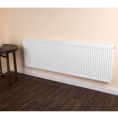 Round Top Radiator - Double - Type 21 - White - 900 x 1200mm