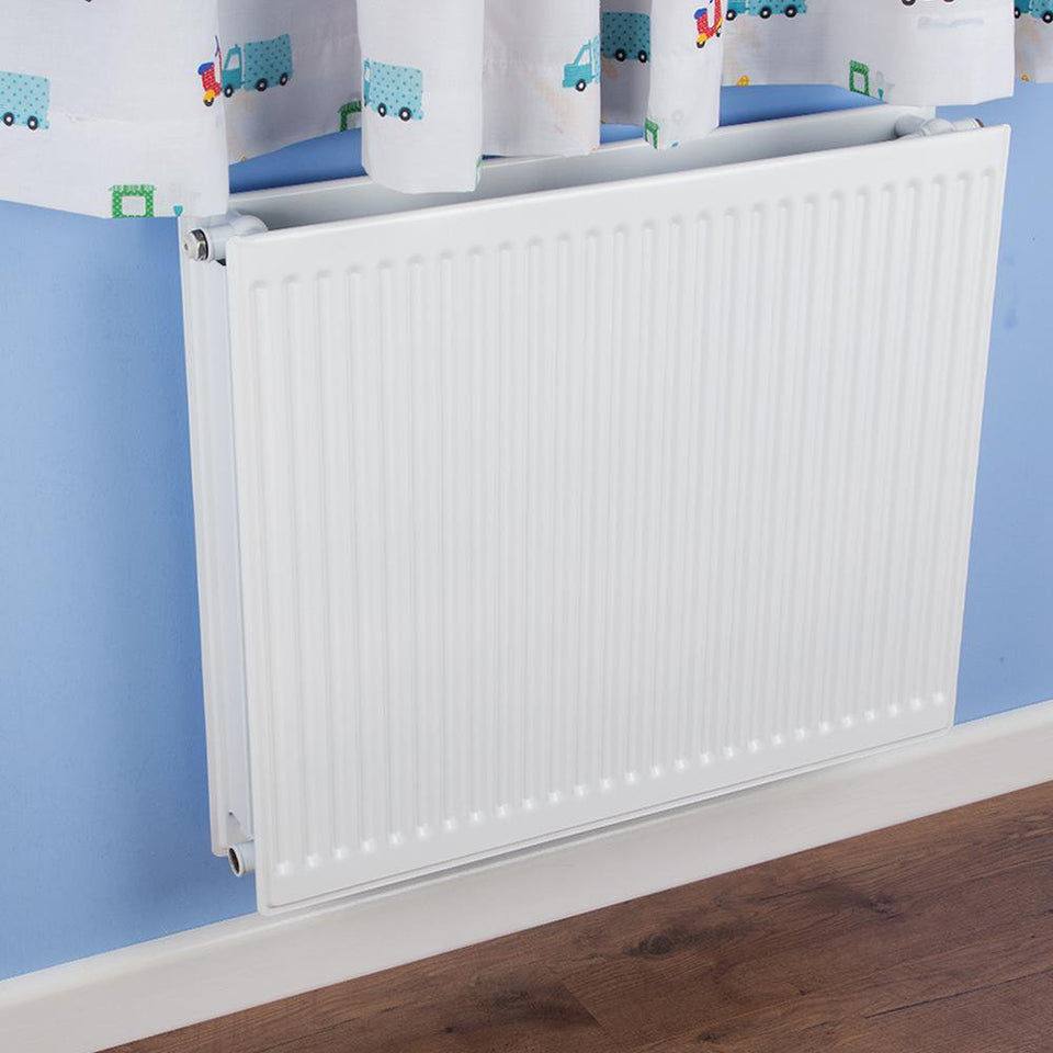 Round Top Radiator - Double - Type 22 - White - (H)400 x (W)300mm