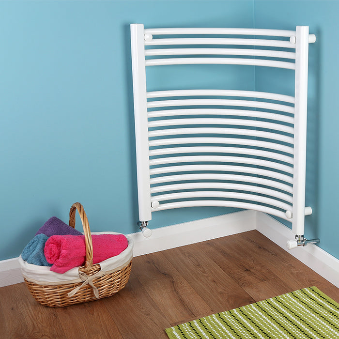 Bathroom Towel Radiator White - H 1120 x W 620mm