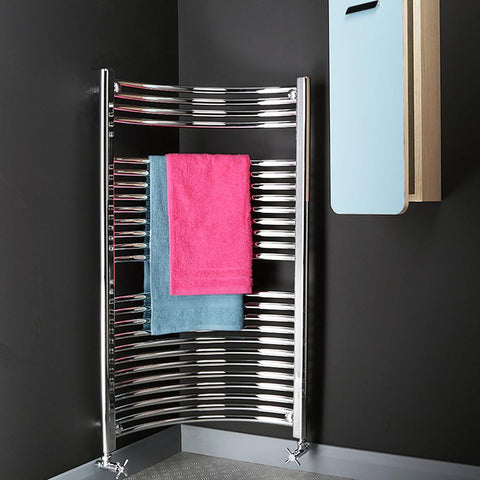 Bathroom Towel Radiator Chrome - H 1120 x W 620mm