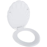Celmac Wirquin WC Toilet Seat & Cover - Plastic - Shell Design - White