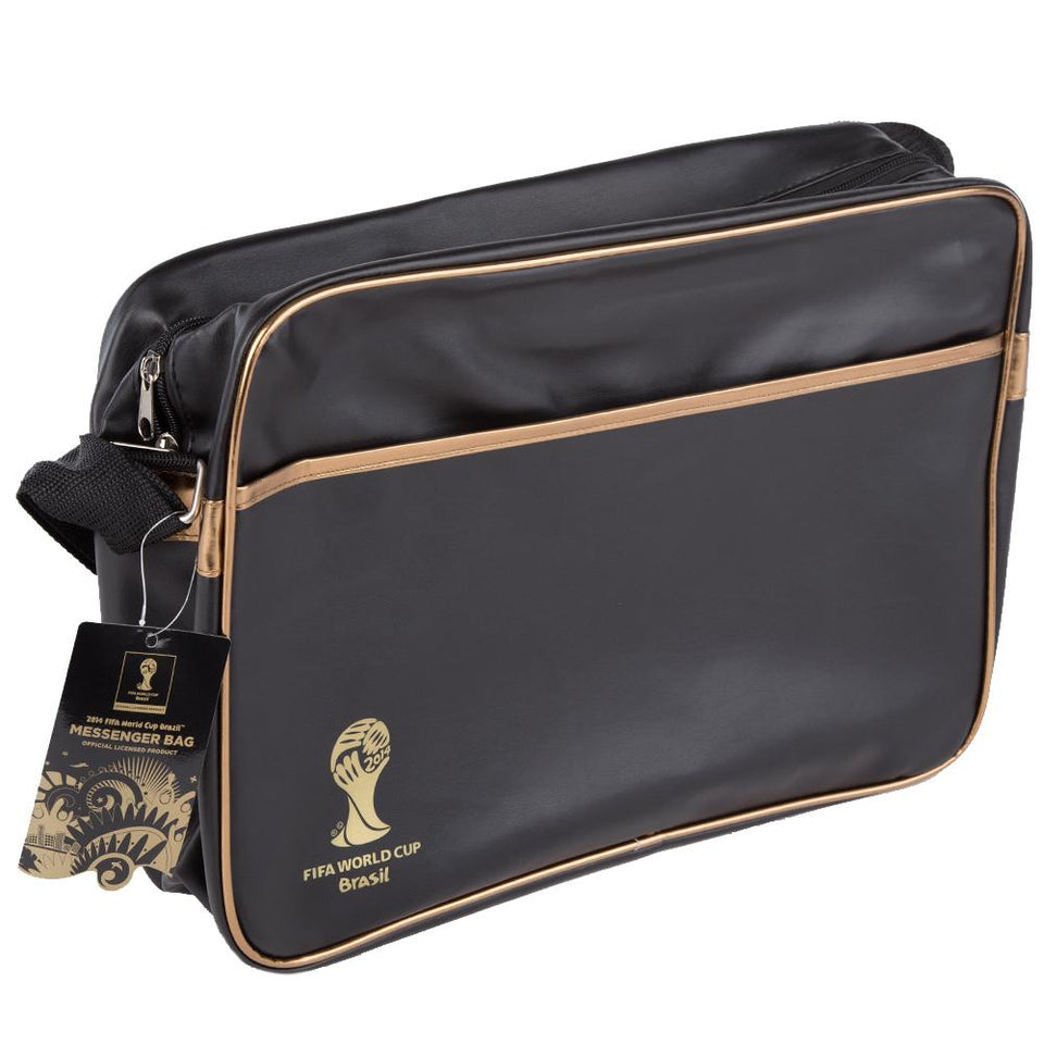 2014 Official Fifa World Cup Messenger Bag - Over The Shoulder - Black & Gold