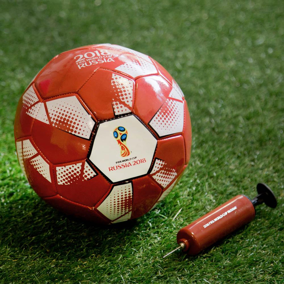 Sports - Fifa World Cup - Russia 2018 Official Licensed Product, Set includes a handheld football pump which is easy to use with the Size 5 football that is also included within the set, the ideal football gift.