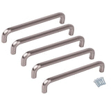 DIY & Tools - Door Handle Nickel Cabinet Set of 5 - 136mm