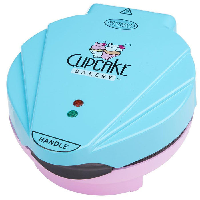 SMART Cupcake Maker Bakery - Electric Non Stick 7 Muffins - Pink/Blue