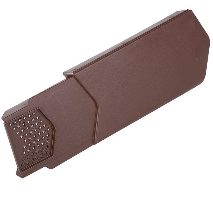 Manthorpe SmartVerge Dry Verge Unit - uPVC Brown Right Hand  10 Pieces