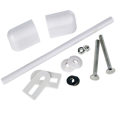 Classic Toilet Seat Fitting Kit Including Rods - White 45119