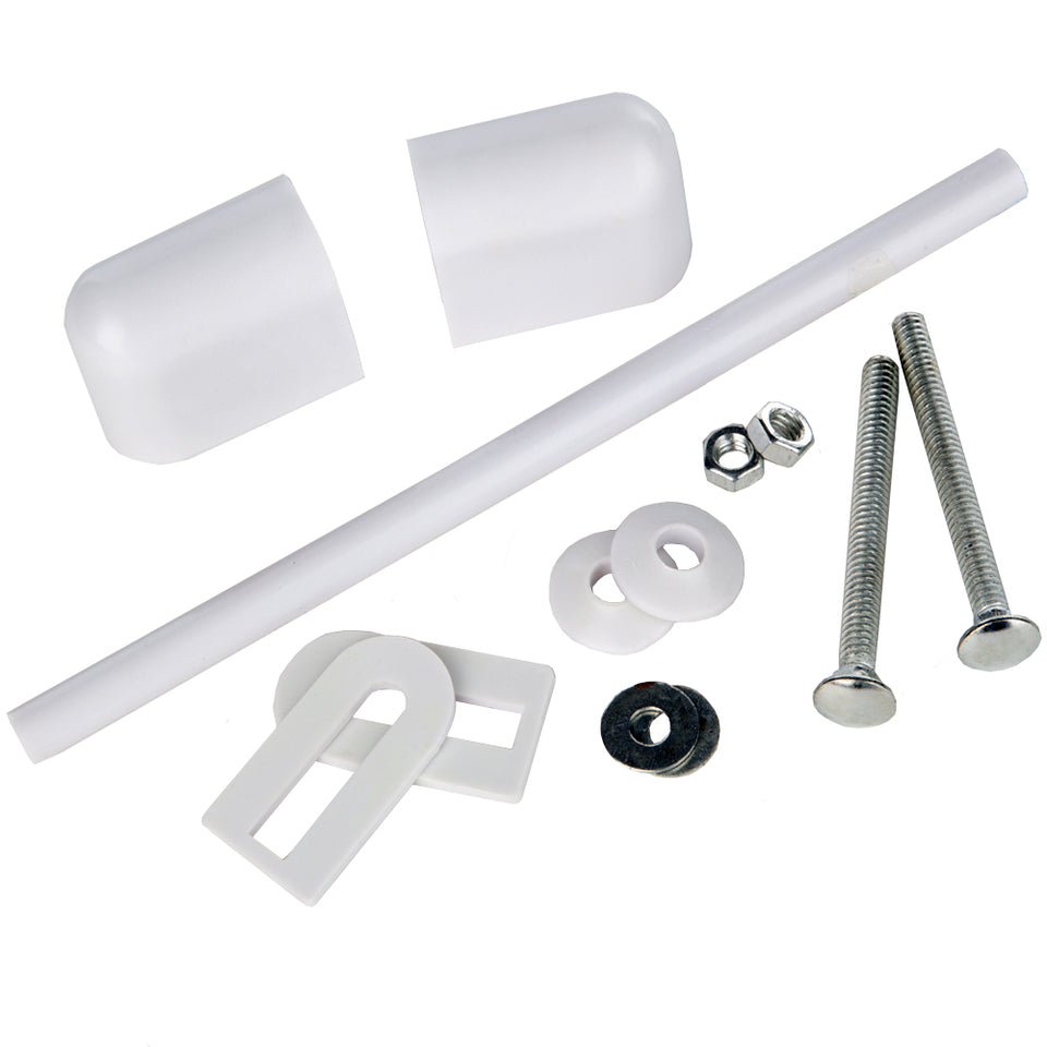 Bathroom - Toilet Seat Fitting Kit Including Rods - White