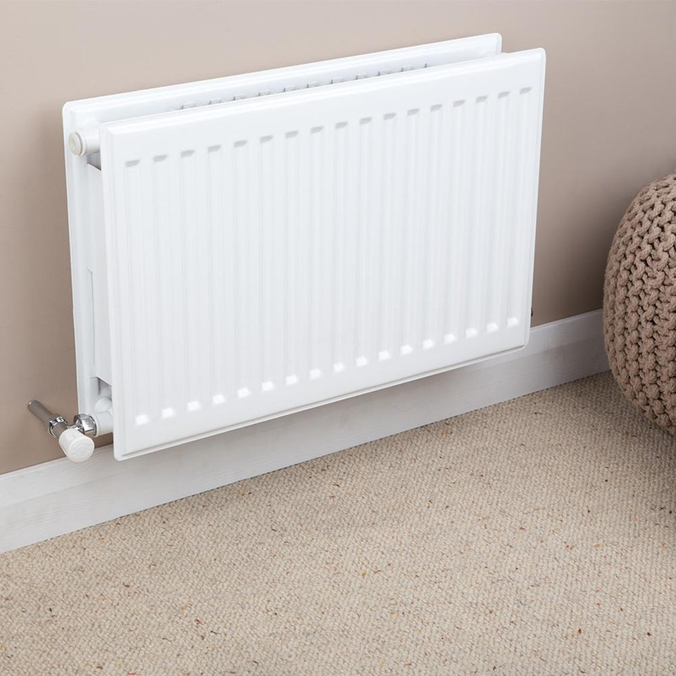 Heating Supplies - Double Type 22 Convector Radiator White - H 500 x W 1000mm