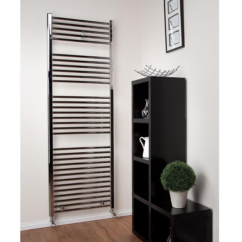 Radiators - Bathroom Towel Radiator - Curved - Chrome - (H) 1186 x (W) 450mm