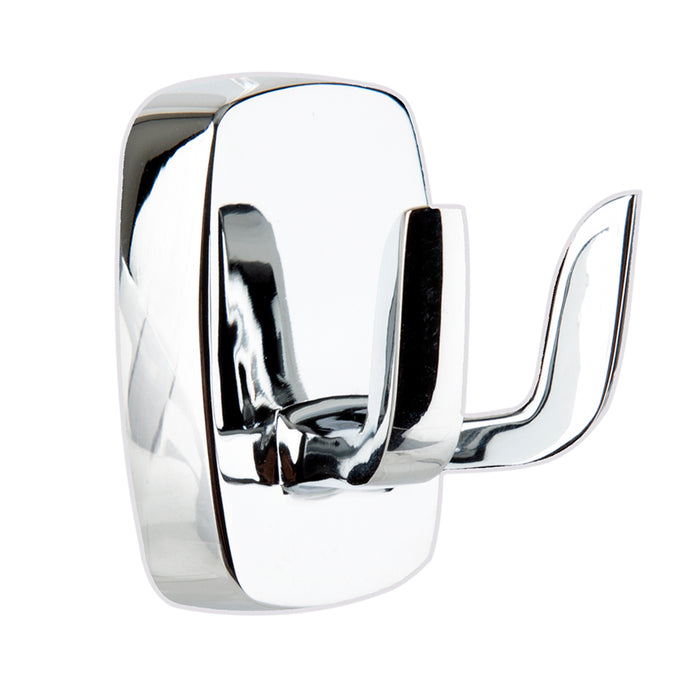 Bathroom - Metlex Double Robe Bath Towel Door Hook - Chrome