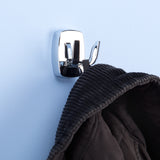 Metlex Wall Mounted Double Robe Bath Towel Door Hook - Chrome