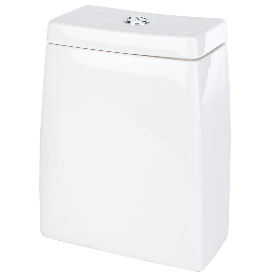 Bathroom - Small White Ceramic Closed Coupled Cistern - 44cm