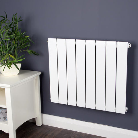 Designer Heated Radiator White - H 500 x W 608mm