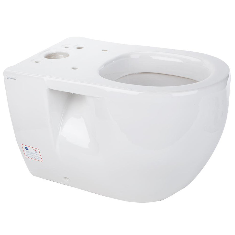 Bathroom -  Ceramic Basin Toilet Pan White 61.5x39.5x41.5cm