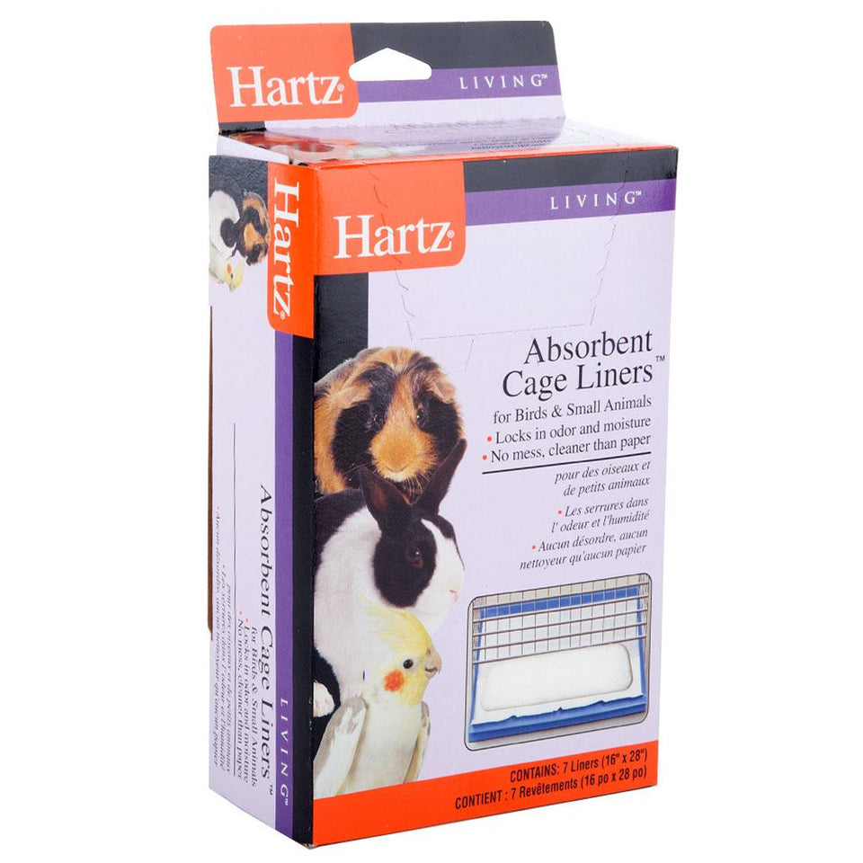 Pet Supplies - 7 x Hartz Absorbent Pet Cage Liners 16 x 28""