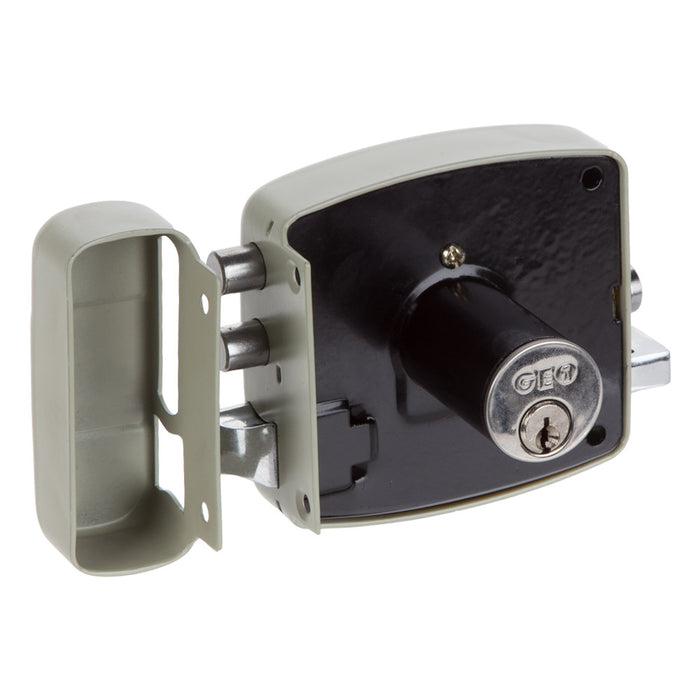 GEO Black & Decker Security Door Lock Right Fixed Grey