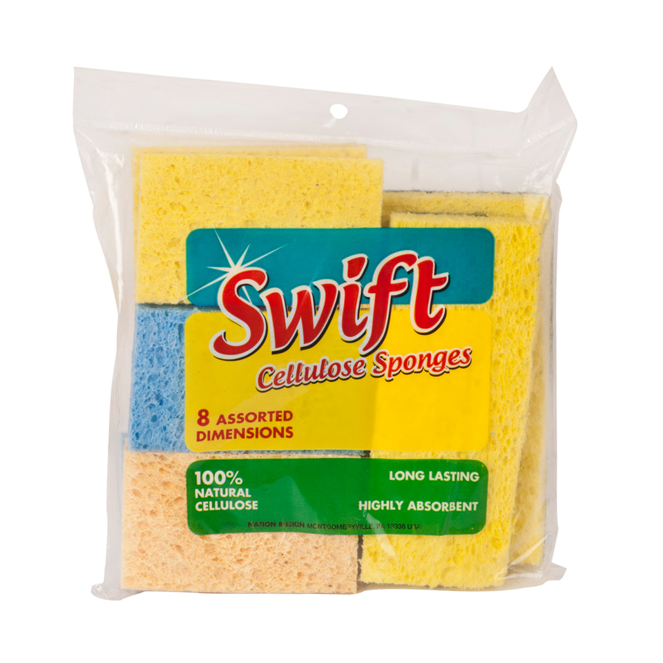 DIY & Tools - Swift Cleaning Sponges Pack of 8 Assorted