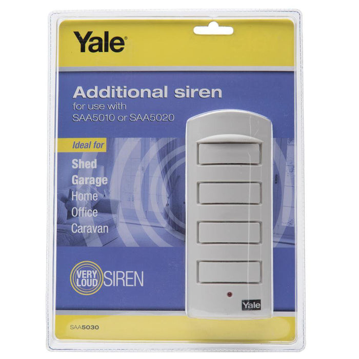 Yale Additional Siren  -  Home/Office Security- 130dB- 10M Cable