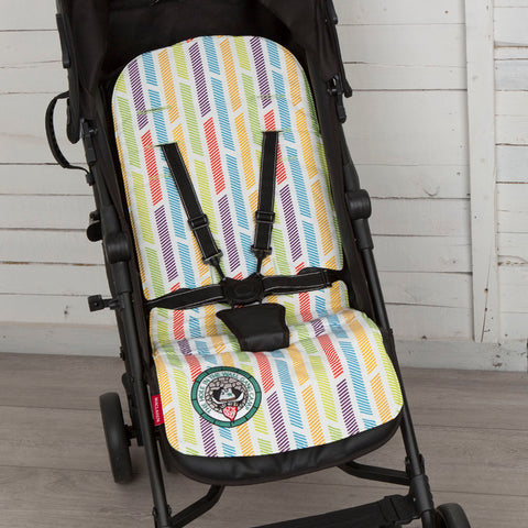 Maclaren Baby Pushchair Reversible Seat Liner Cover - Multi/Pea Green