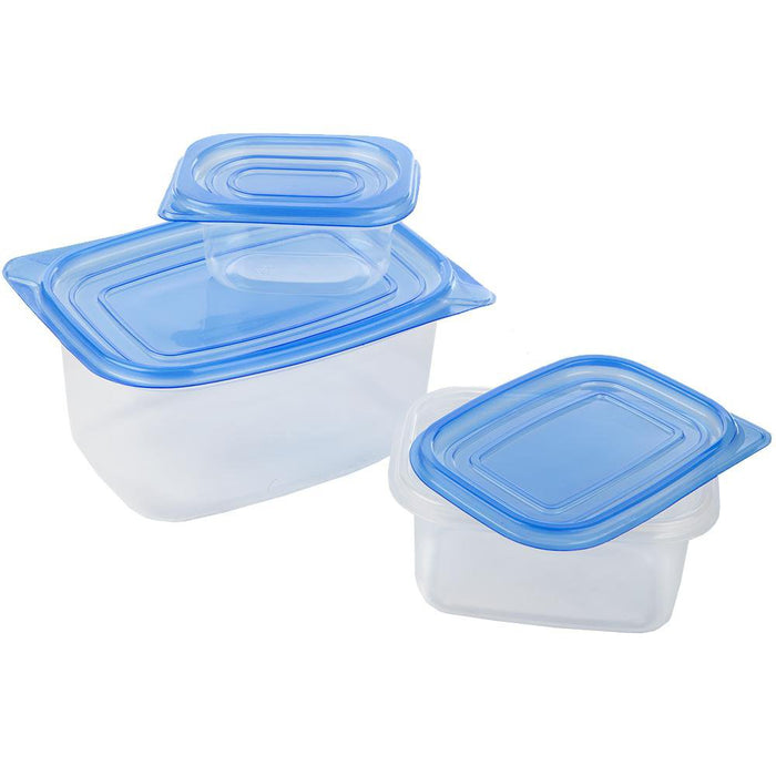 3x Baco Tub-its! Plastic Picnic Lunchbox Food Storage Containers Tubs