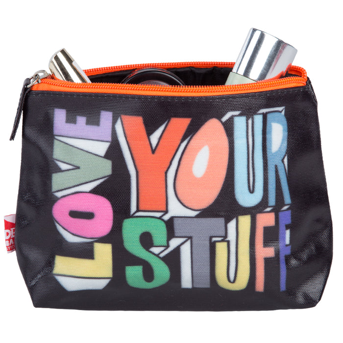 Urban Outfitters Cosmetic Wash Bag -Black - Love Your Stuff -22x13.5cm