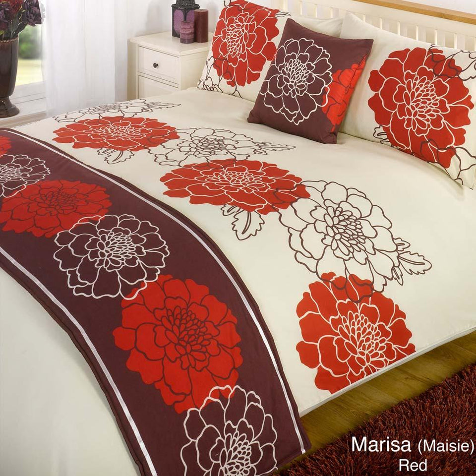 Textiles - Bed In A Bag Duvet Bedding Set Quilt Cover - Marisa Red - Single