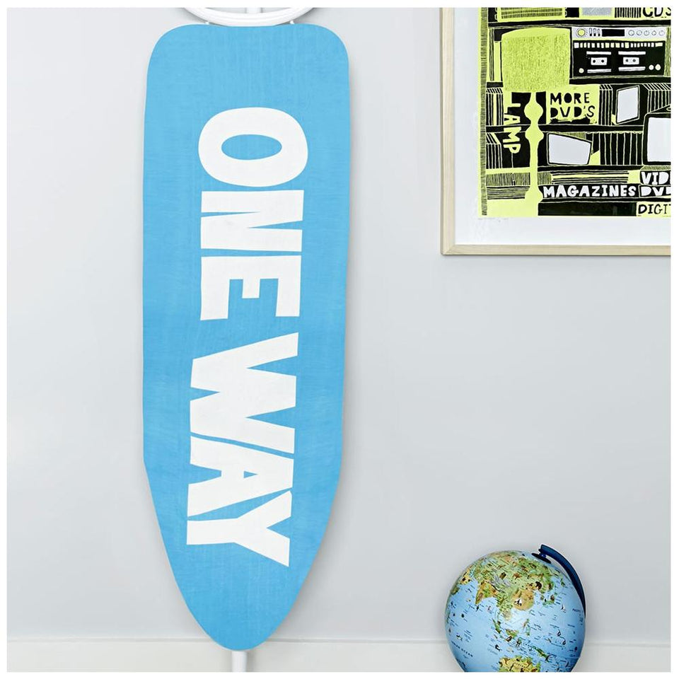 Textiles - Urban Outfitters Ironing Board Cover - Modern Blue & White Text Design