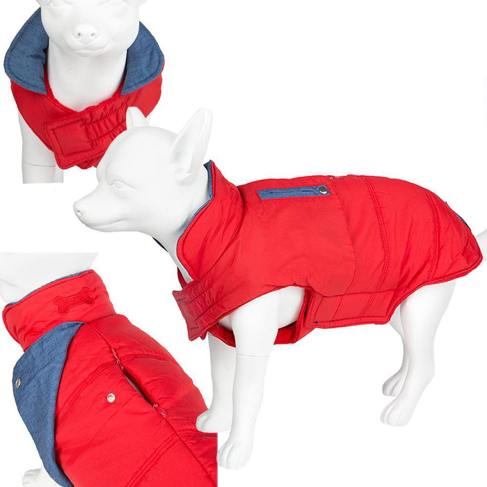 Pet Clothing - Pet Dog Waterproof Coat - Red 25 X Small