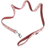 Pet Supplies - Pet Dog Lead & Clip Plaid Pink 1m - 1cm - XS