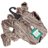Padded Faux Fur Dog Coat Brown 25 X-Small