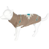 Pet Clothing - Knitted Dog Jumper Chevron Beige 40 Medium
