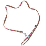 Supplies - Dog Lead Square Print Strap - X Small - Brown