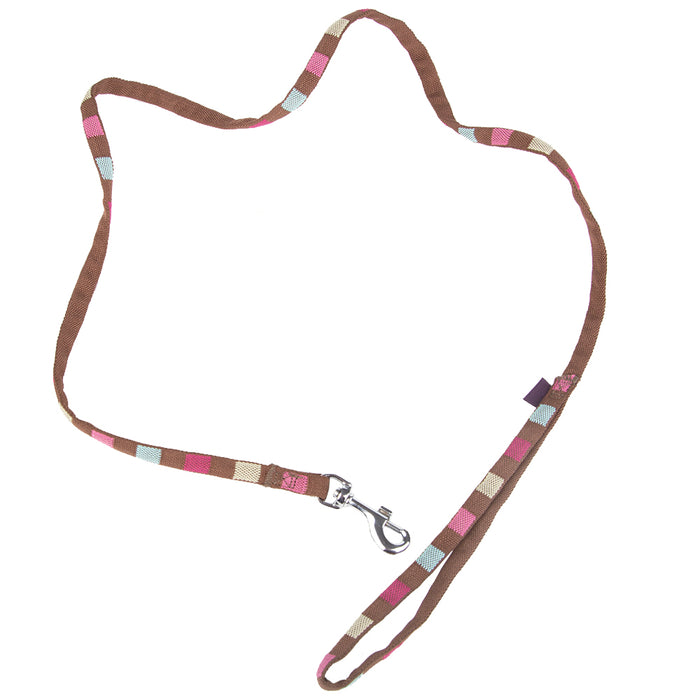 Pet Supplies - Pet Dog Lead Square Print Strap M - Brown