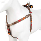 Pet Dog Harness Nylon Adjustable Soft Square Strap-X Small-Beige/Multi