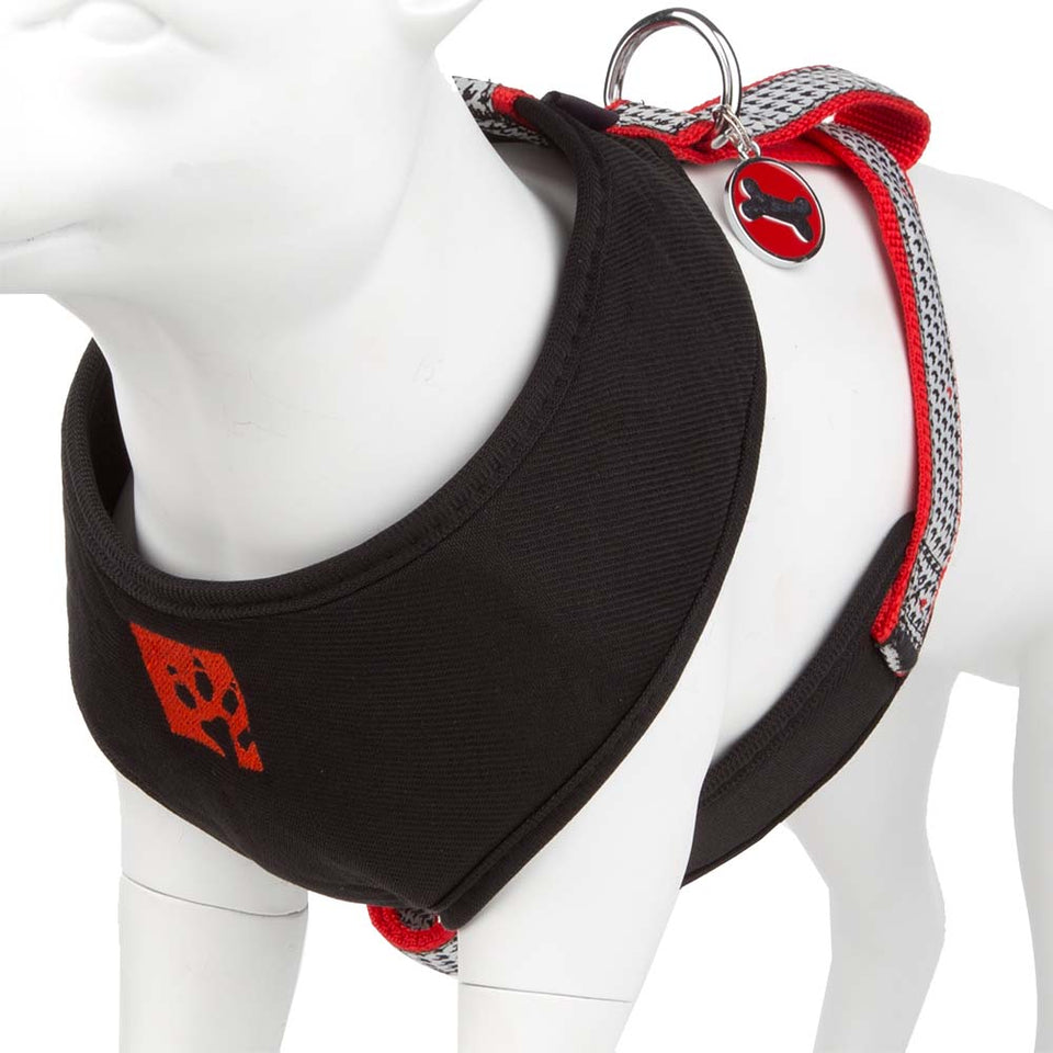 Pet Puppy Dog Harness Nylon Adjustable Chestplate Strap -Large- Black