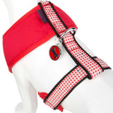 Pet Puppy Dog Harness Nylon Adjustable Chestplate Strap -X Small- Red