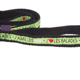 Training Extra - Small Dog Lead - I Love Walks - Green - 103cm