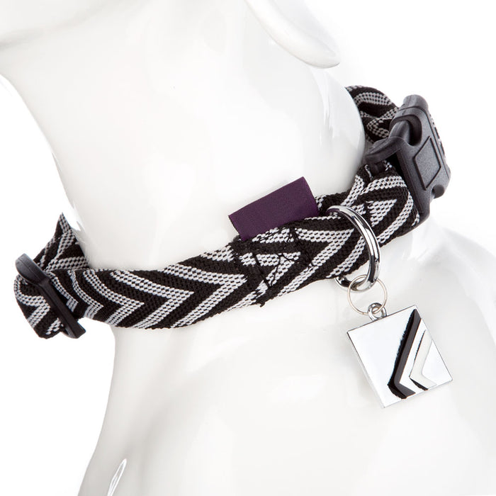 Pet Supplies - Pet Dog Puppy Collar Chevron Black 38-52cm