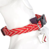 Pet Supplies - Pet Dog Puppy Collar Chevron Red M - 32-40cm