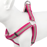 Pet Dog Puppy Adjustable Step In Harness - Pink Grey- X Large 61-96cm